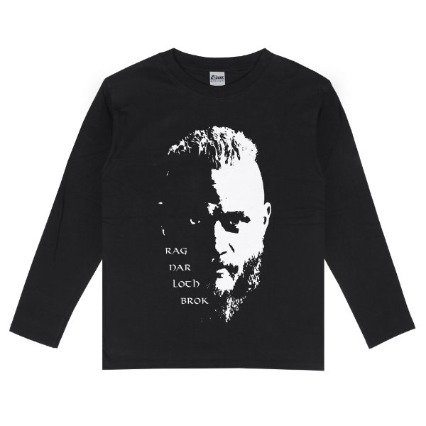 Camiseta Manga Longa Vikings Ragnar Lothbrok