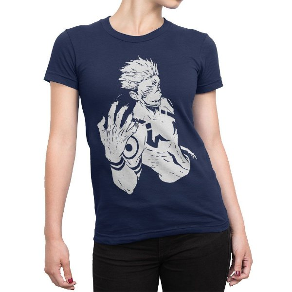 Camiseta Sukuna Jujutsu Kaisen Feminina
