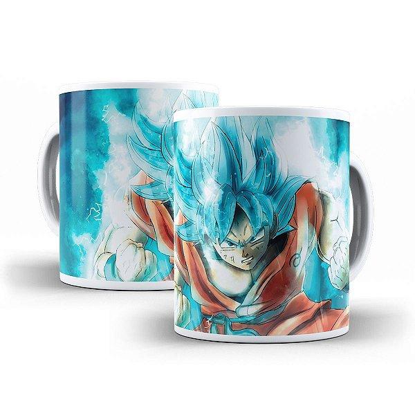 Caneca Goku Super Saiyajin Blue