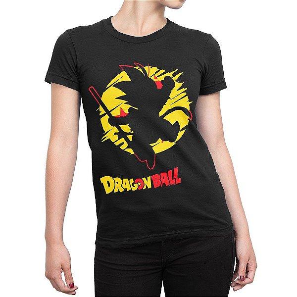 Camiseta Goku De Bastão Feminina