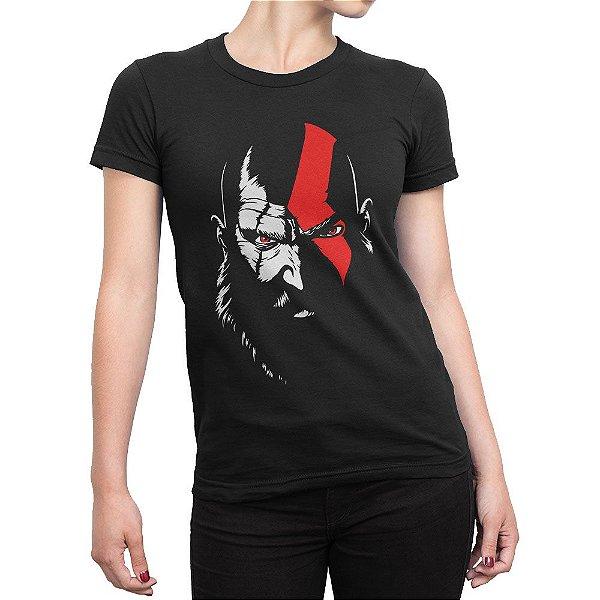Camiseta God Of War 4 Kratos Feminina
