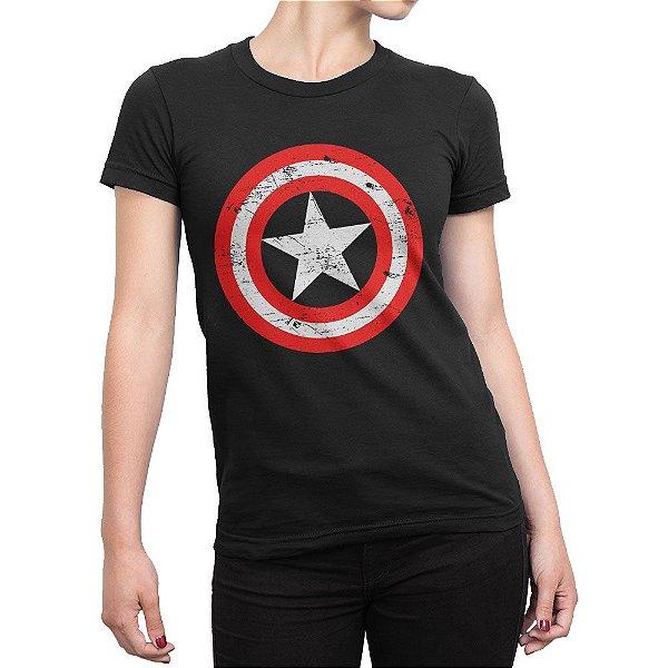 Camiseta Capitão América Feminina