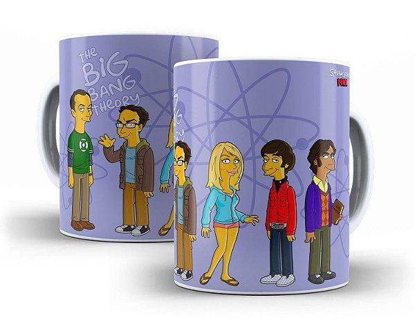 Caneca Simpsons The Big Bang Theory