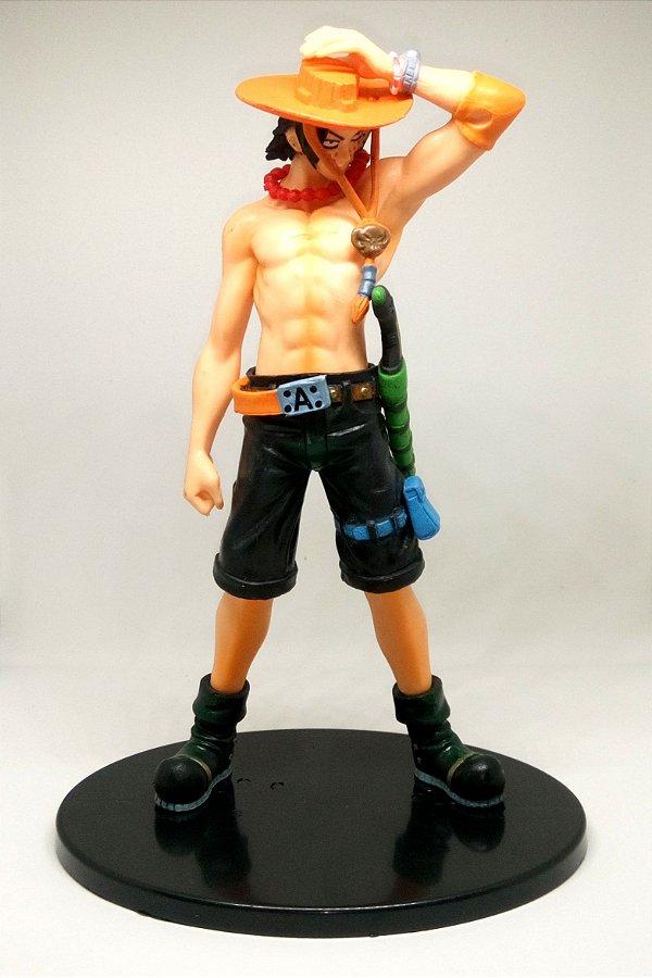 Action Figure Ace One Piece Boneco Estátua 18cm