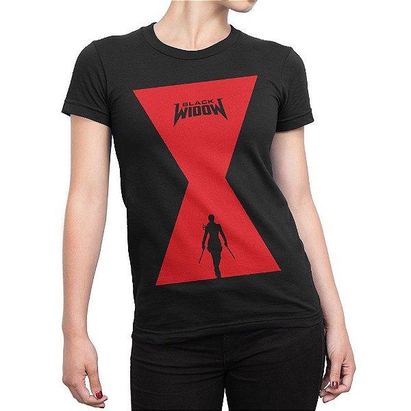 Camiseta Viúva Negra Scarlett Johansson Feminina