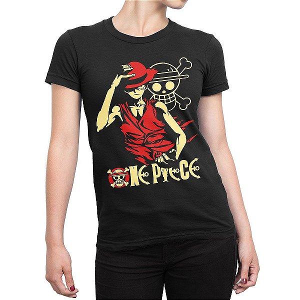 Camiseta One Piece Monkey D. Luffy Feminina