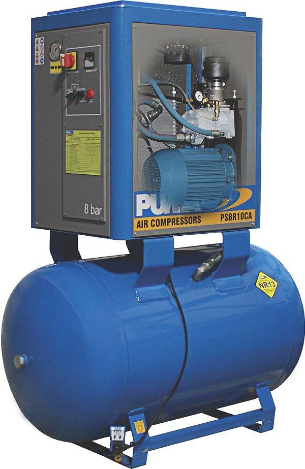 Compressor e reservatório de 5cv a 12,5cv