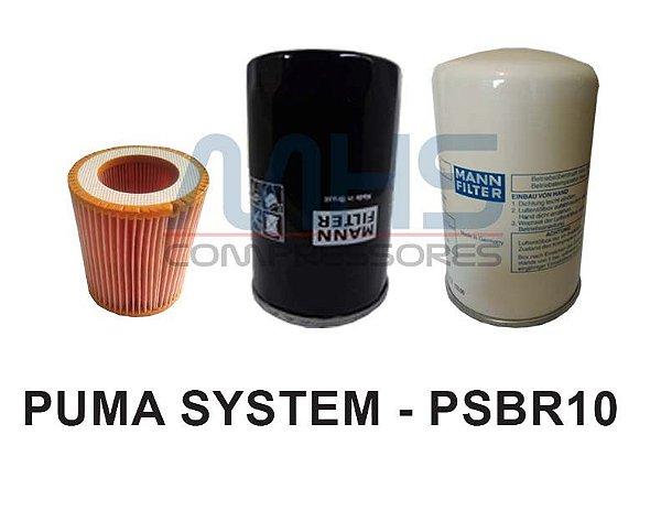 Kit Filtros Compressor Puma System - Psbr10