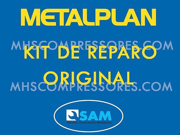 KIT REPOSIÇÃO VALVULA ADMISSÃO METALPLAN ROTOR 25/30 PACK 25/30/40/50 HP - 3060114