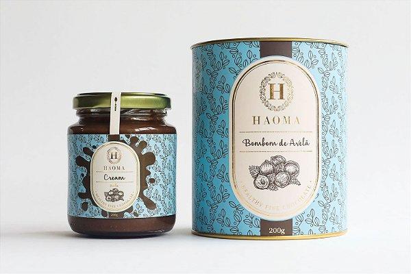 Haoma Cream Avelã e Bombom de Chocolate Belga Avelã