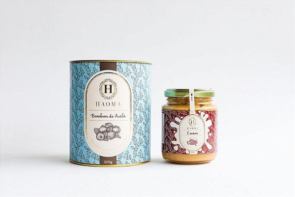 Bombom de Chocolate Belga Avelã e Haoma Cream Amendoim
