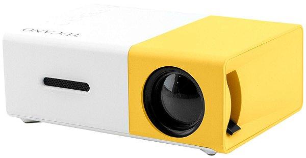 Projetor Tucano - HDMI - Branco e Amarelo