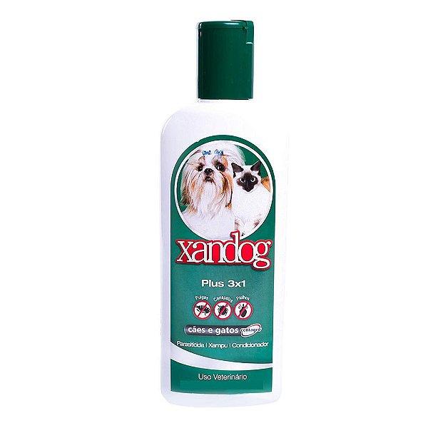 Shampoo para Cães e Gatos Xandog Plus 3x1