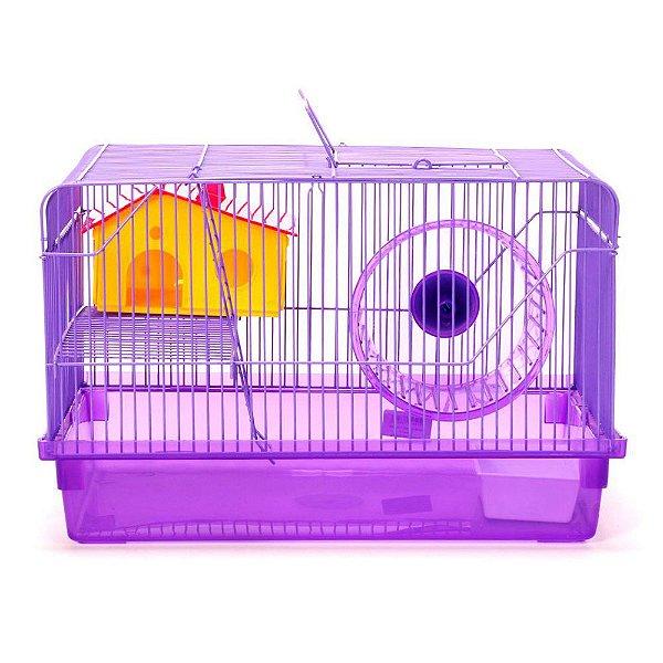 Gaiola American Pets Hamster 2 Andares - Roxo