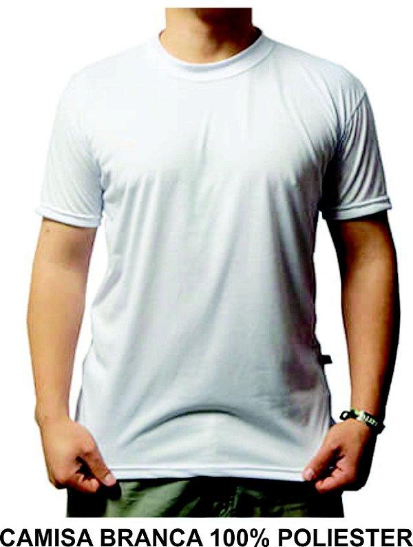 Kit 10 Camisas Branca Unissex 100% Poliester Atacado Sublimação