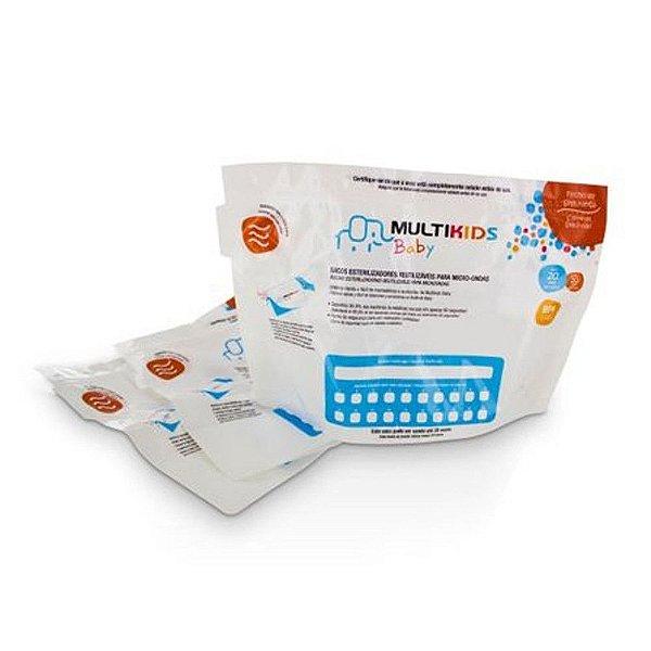Saquinhos para Esterilizar no Microondas Reutilizáveis 6 unidades - Multikids Baby - BB157