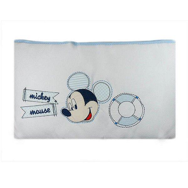 Edredom Mickey Bordado Azul 85 cm x 1,3 m - Minasrey - 3914
