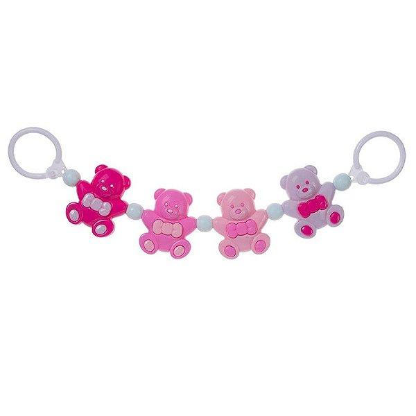 Móbile Acessório para Carrinho de Bebê Urso Rosa - Pimpolho - 7546