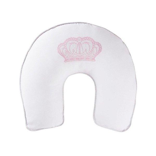 Almofada de Amamentação Rosa Reininho Classic Coroa Menina - Minasrey - 3678