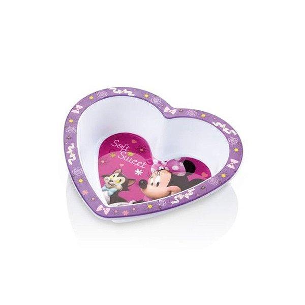 Prato Fundo Coração para Micro ondas Minnie Disney - Multikids Baby - BB095