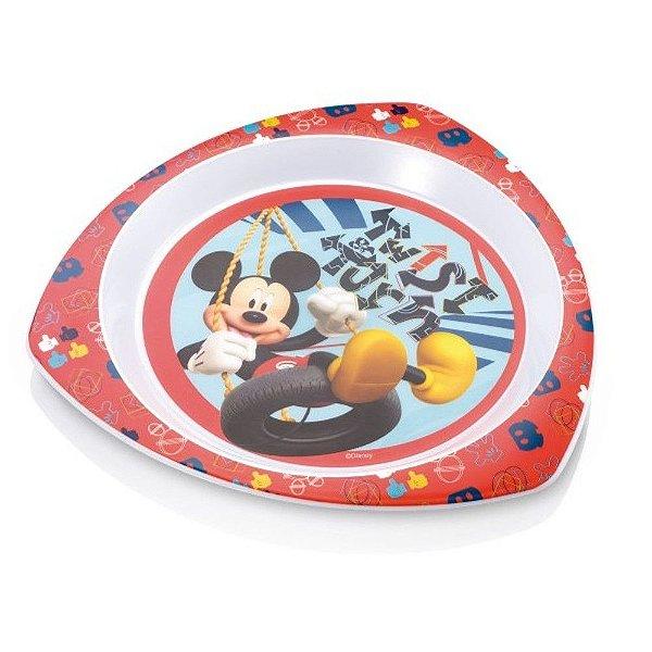 Prato Raso Triangular para Microondas Mickey Multikids Baby - BB091