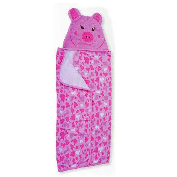 Toalha de Banho Carinhas Porquinha Pig - Minasrey - 3520