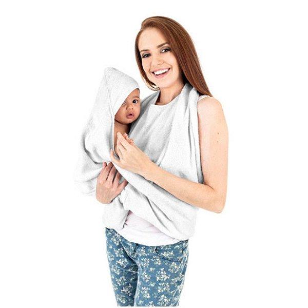 Toalha de Banho Abraço Branca - KaBaby - 21001B