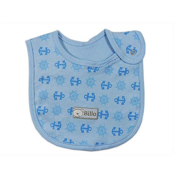 Babador Azul Estampado Suedine - Minasrey - 4025