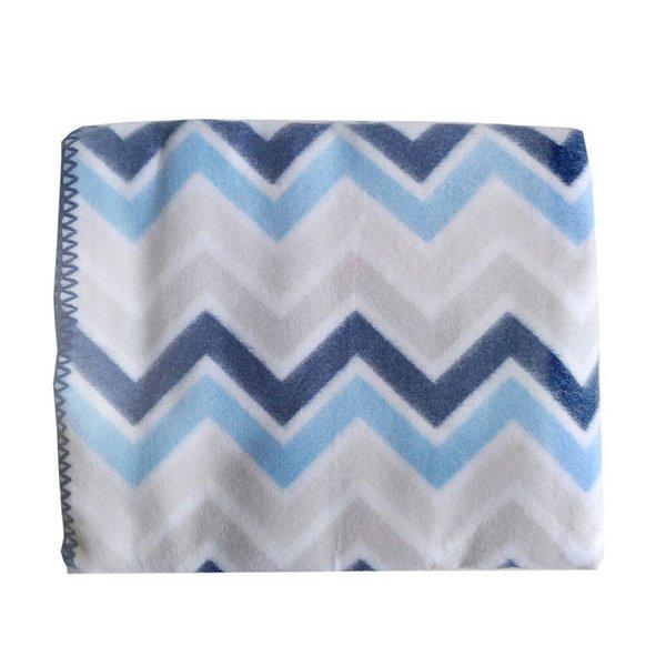 Cobertor Azul Chevron Loupiot Classic 90 cm x 1,10 m - Minasrey - 5329