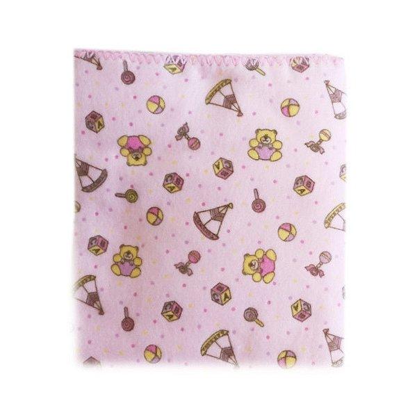 Cobertor Estampado Carícia Rosa Ursinho - Minasrey 1614
