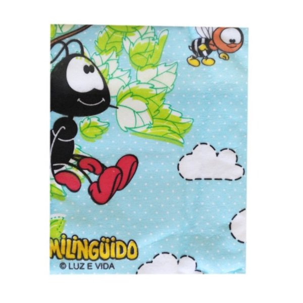 Cobertor Estampado Smilinguido Azul - Minasrey - 3203