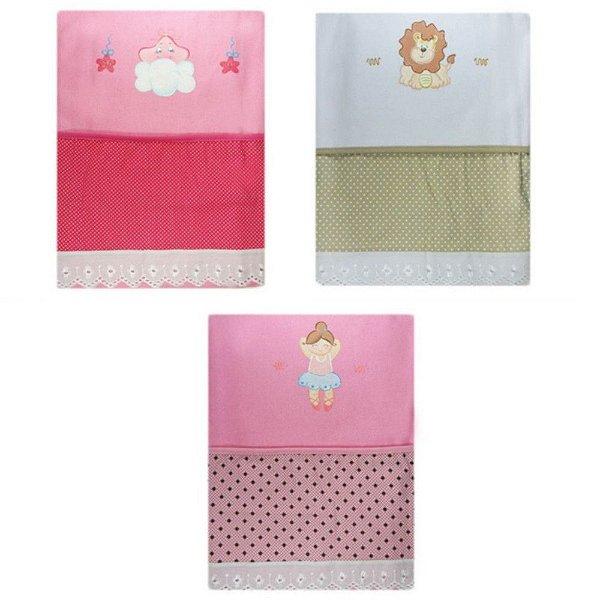 Kit com 3 Cobertores Flanelados Recém-Nascido Pintado 1301