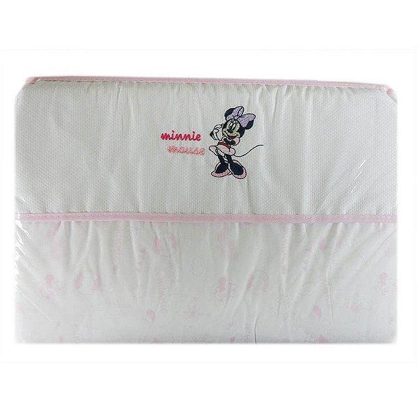 Trocador de Fraldas Bordado Minnie 45 cm x 65 cm - Minasrey 3937
