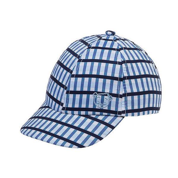 Boné Pimpolho Xadrex Azul Claro - Ajustável - 1 a 2 anos - Pimpolho - 0008148