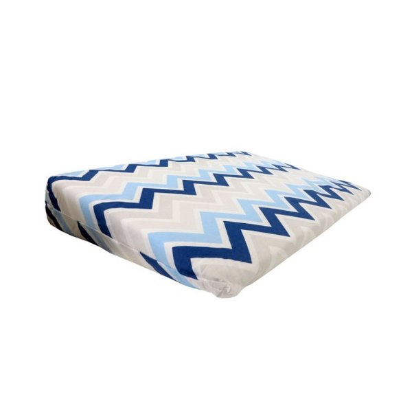 Travesseiro Rampa Anti-Refluxo Loupiot Classic 59 cm x 36 cm x 8 cm - Azul - Minasrey - 5123