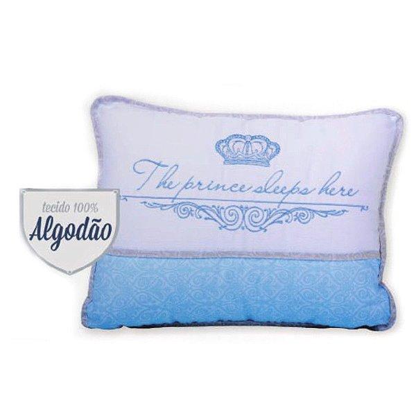Travesseiro Reininho The Prince Sleeps Here - Minasrey - 3675