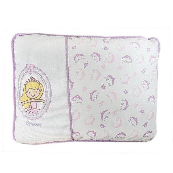 Travesseiro Menina Reininho Princess - Minasrey - 3619