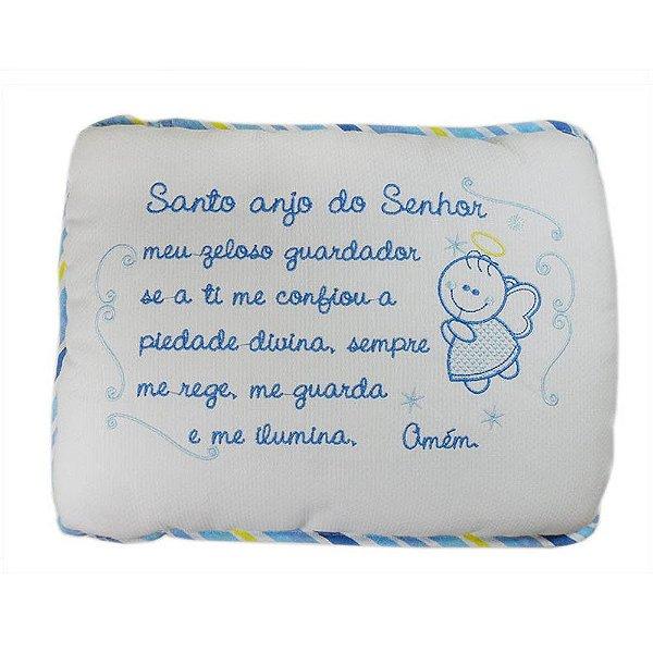 Travesseiro Bordado Linha Bebê Anjo Azul - Minasrey - 3772