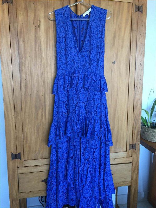 Vestido renda blue (P) - Alexis