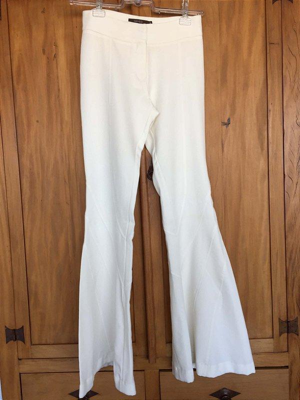Calça off white flare (34) - Mixed