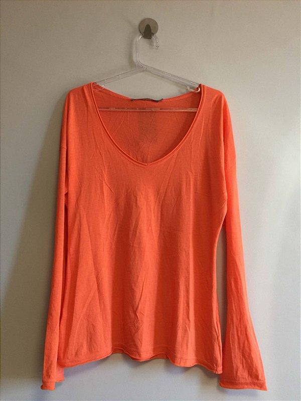 Blusa malha cenoura (P) - Animale