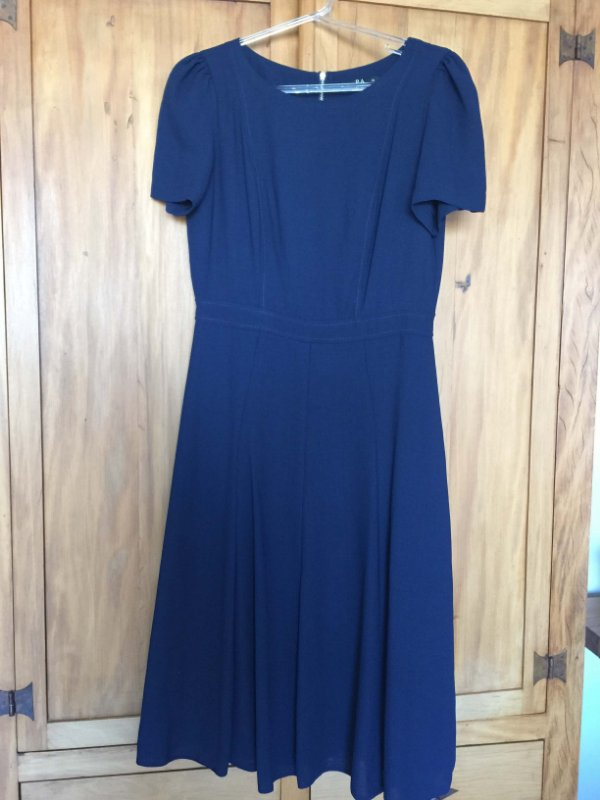 Vestido marinho midi (38) - PA Concept NOVO