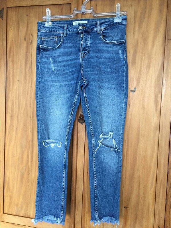 Calça Jeans skinny botões (40) - Zara