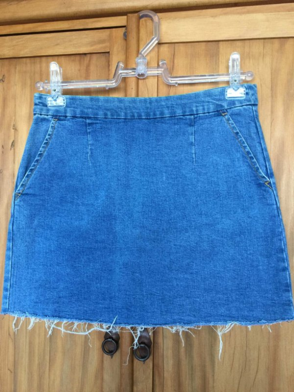 Saia jeans curta (G) - Forever 21