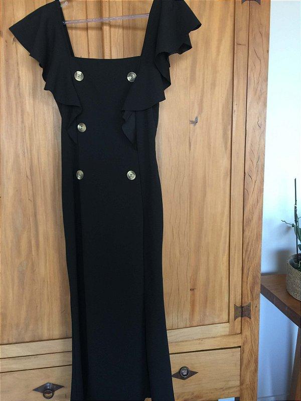 Vestido black midi (40) - Karina Rabello