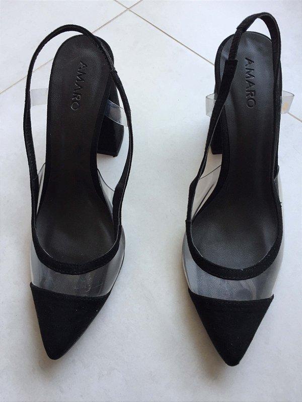Sapato vinil preto (37) - Amaro