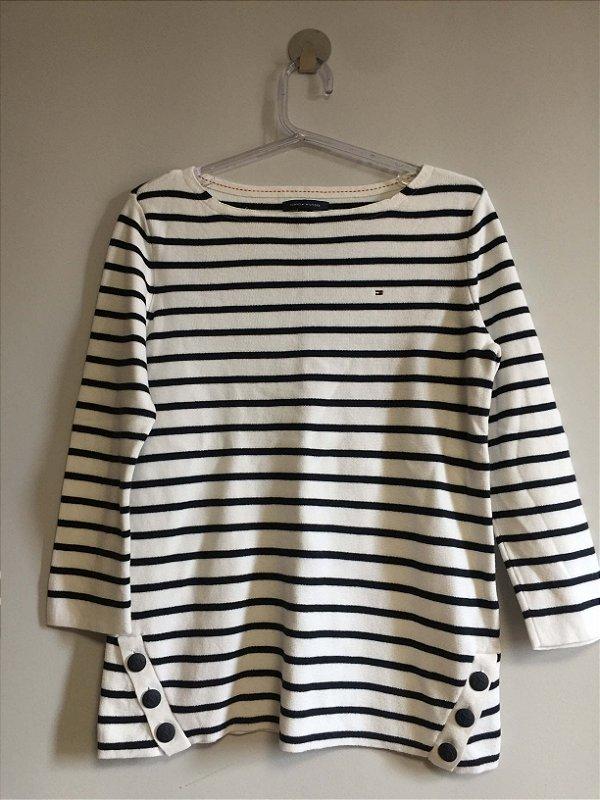 Blusa listras tricot (P) - Tommy Hilfiger NOVA