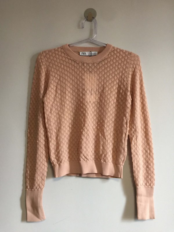 Blusa tricot textura (P) - ZARA NOVA