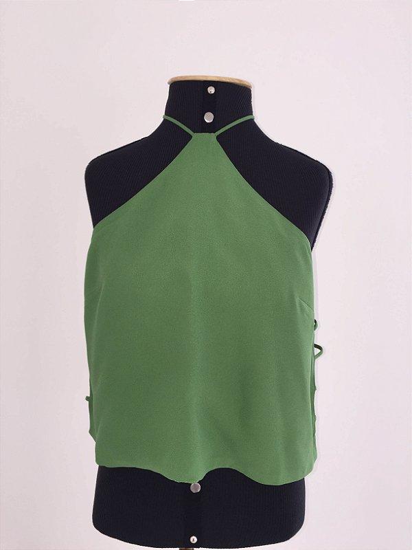 Camiseta verde abertura nas laterais (40) - F.Y.I