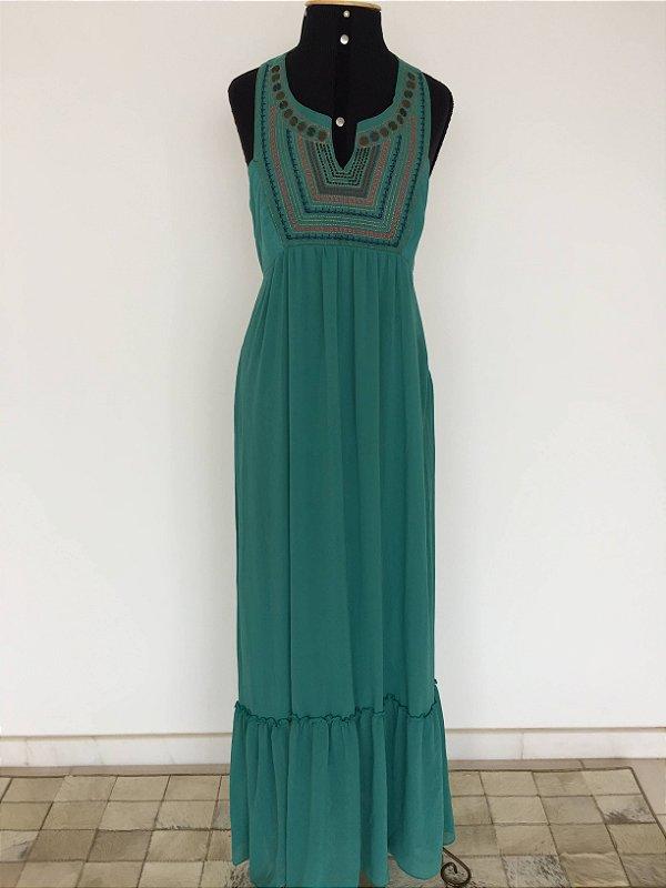 Vestido longo verde (P)